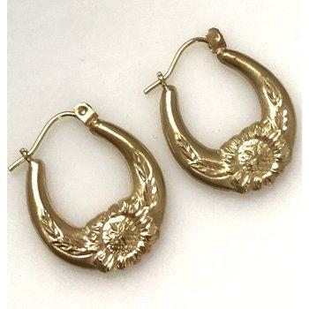 10k Basket-style Earrings