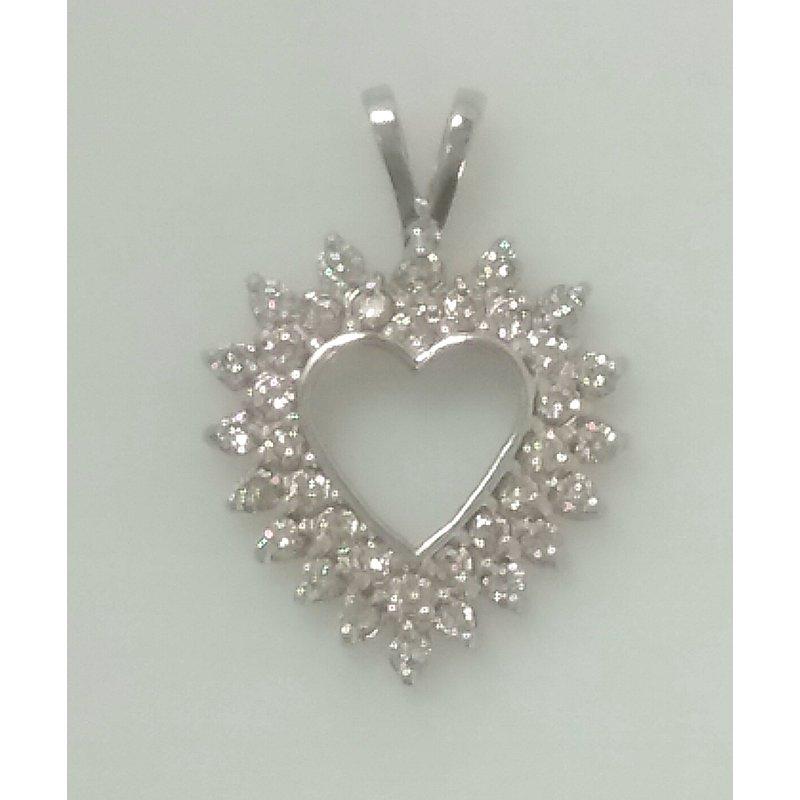 Estate Specials Diamond Heart Pendant