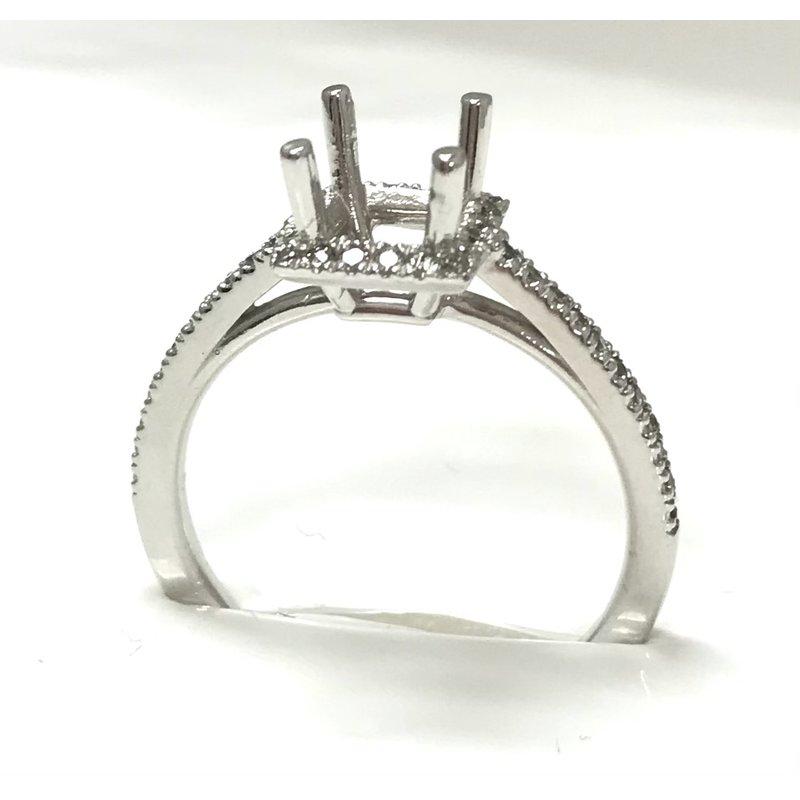 Showcase Collection 14KW Semi Set Princess Halo Ring
