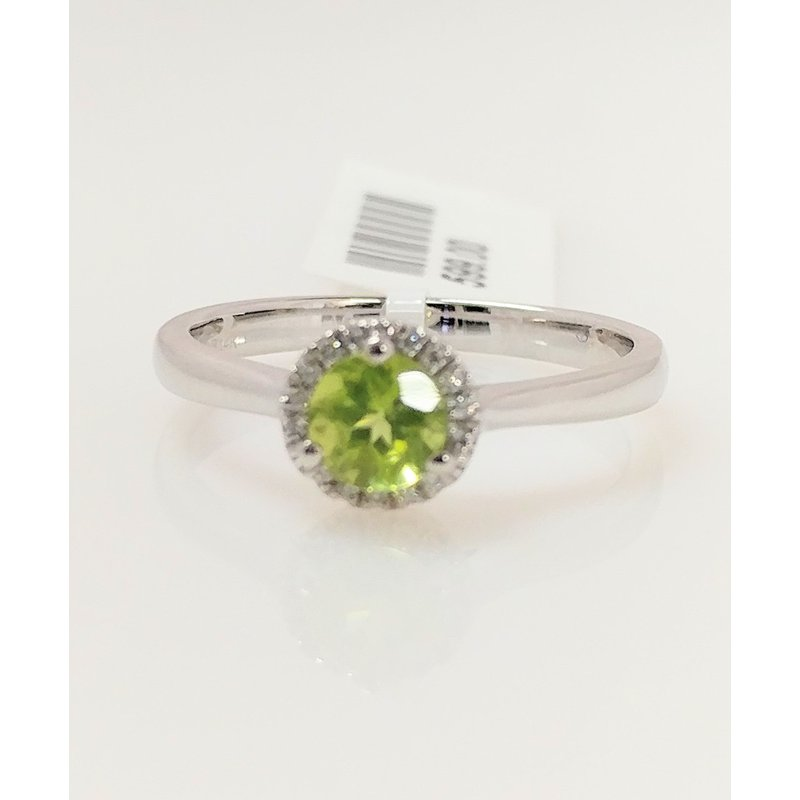 Showcase Collection Peridot Halo Ring