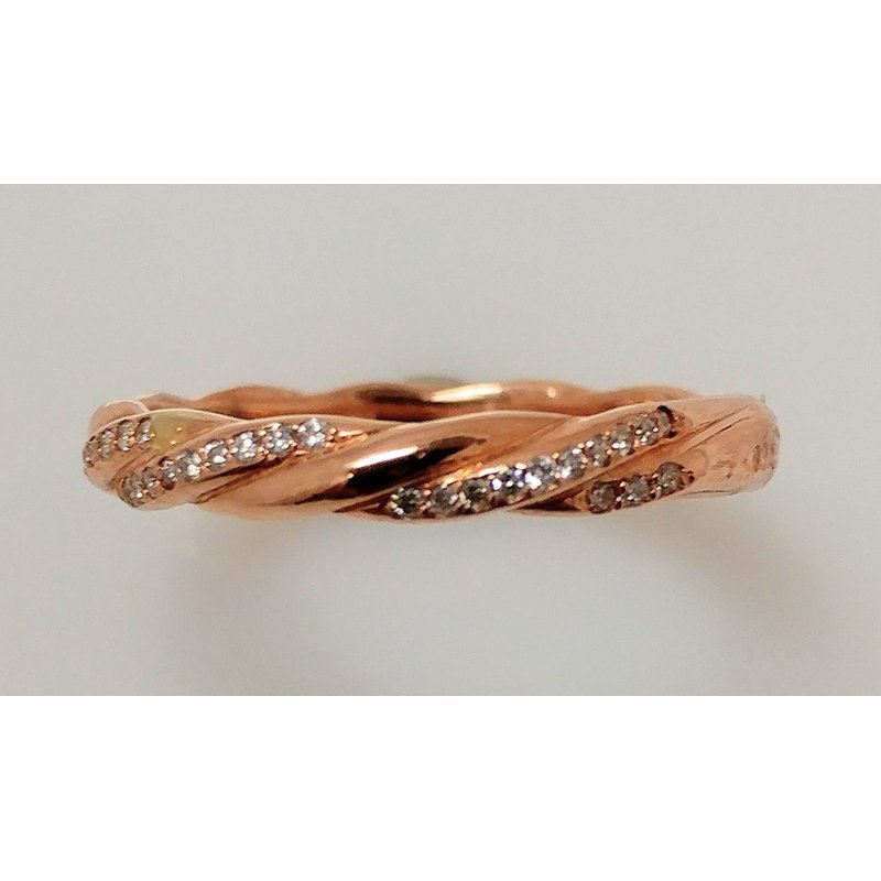 Showcase Collection 14KR Twisted Band with Diamond Accents