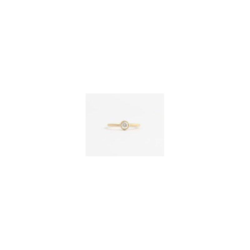 Showcase Collection 14KY Bezel Set Diamond Ring