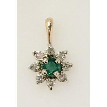 Emerald and Diamond Pendant