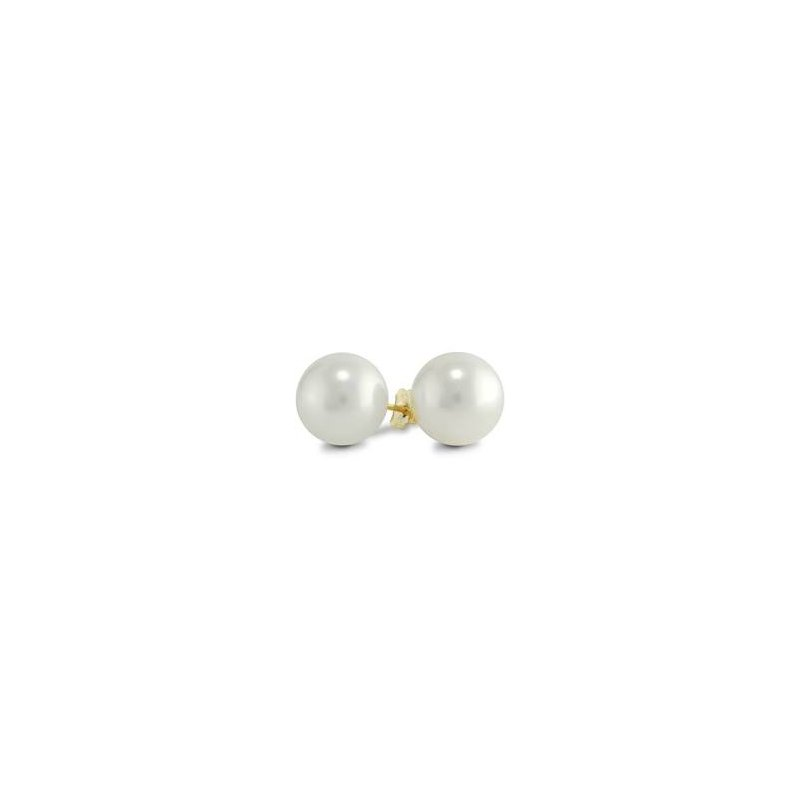 Showcase Collection 10KY Pearl Stud Earrings