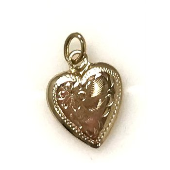 10KY Small Heart Pendant