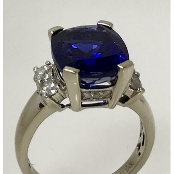 Tanzanite Ring with Diamond Accents