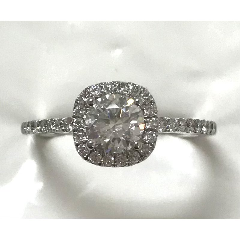 Showcase Collection 14KW Halo Engagement Ring