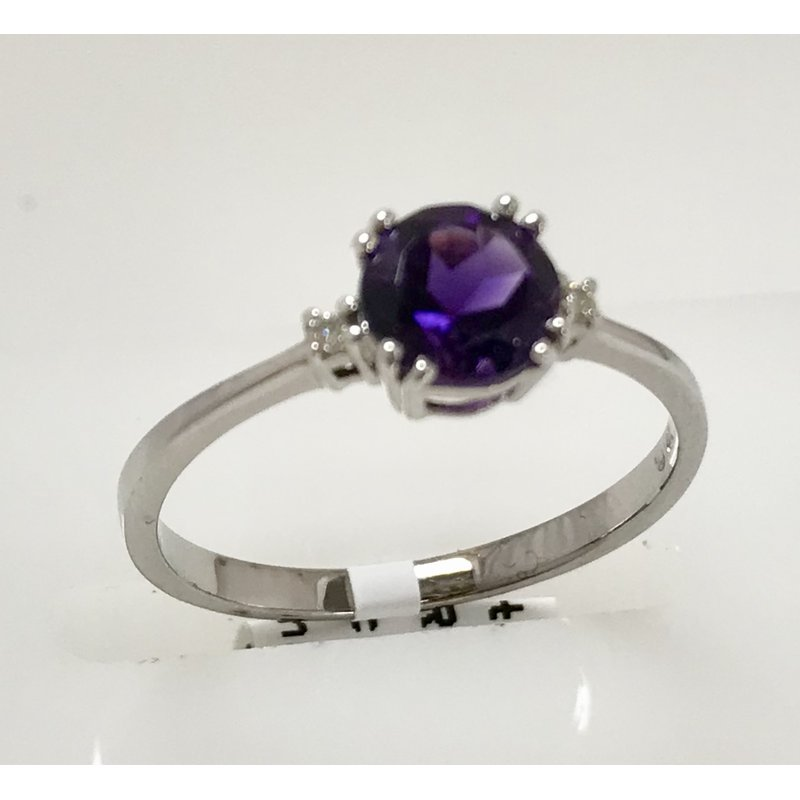 Showcase Collection Amethyst Ring with Diamond Accents