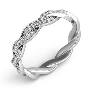 14KW Twisted Wedding Band