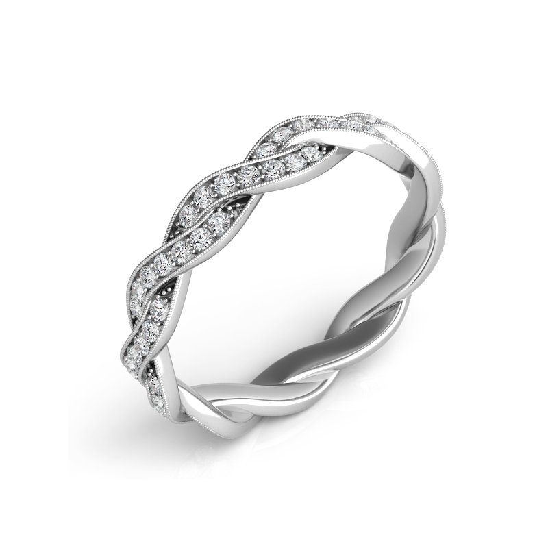 Showcase Collection 14KW Twisted Wedding Band