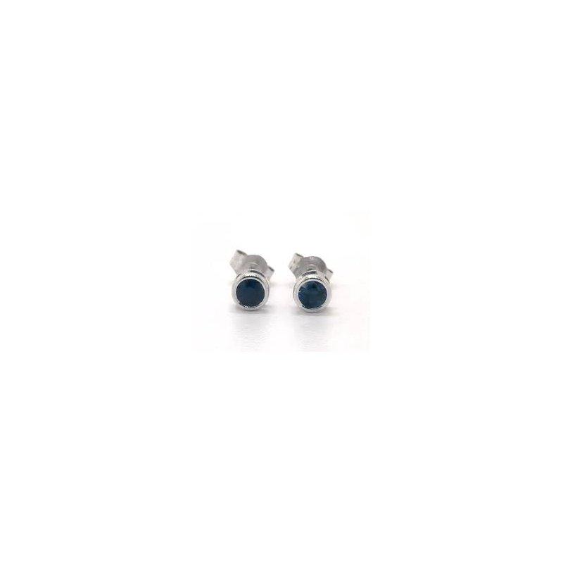 Showcase Collection Bezel Set Sapphire Earrings