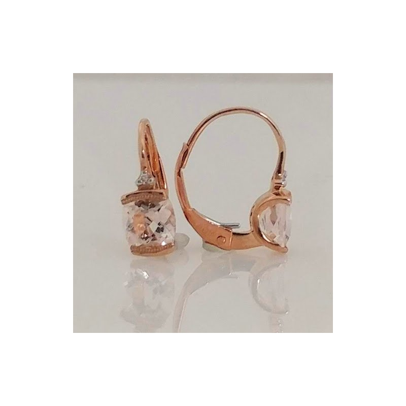 Showcase Collection Morganite and Diamond Earrings