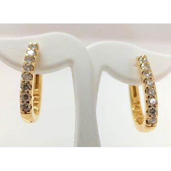 14KY Diamond Hoop Earrings