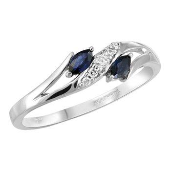 Diamond and Sapphire Fashion Ring