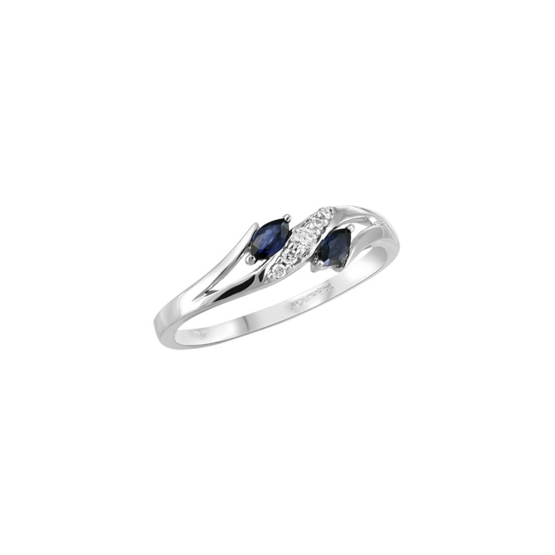 Showcase Collection Diamond and Sapphire Fashion Ring