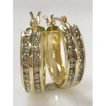 14KY Diamond Hoops