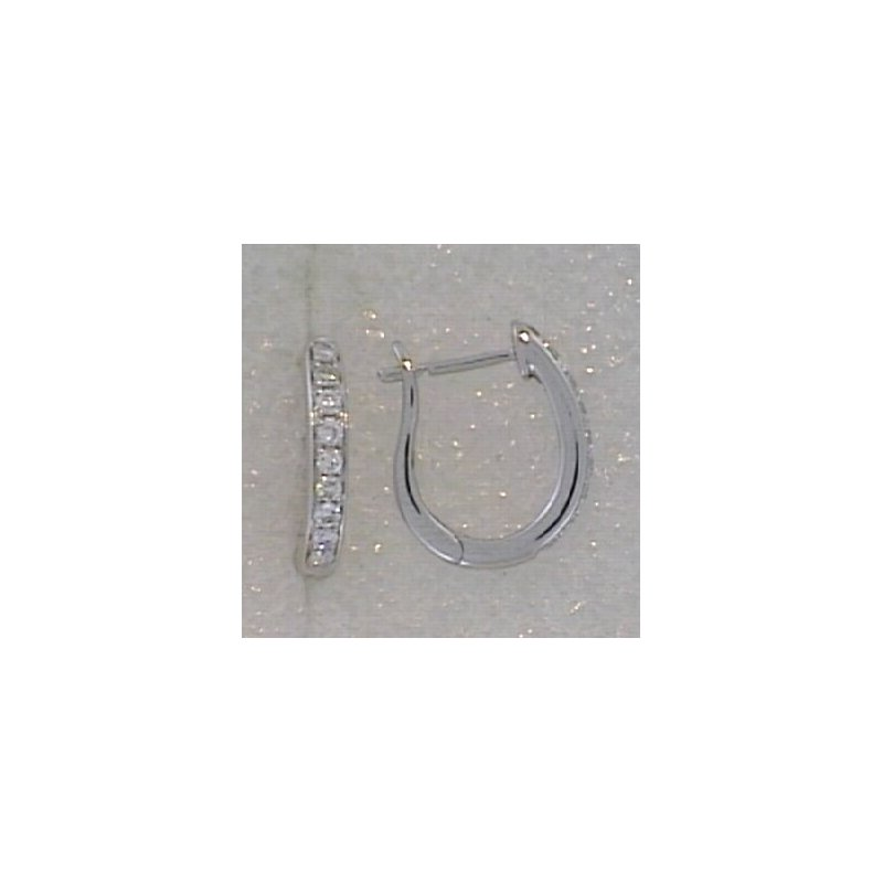 Showcase Collection 18KW Diamond Hoop Earrings