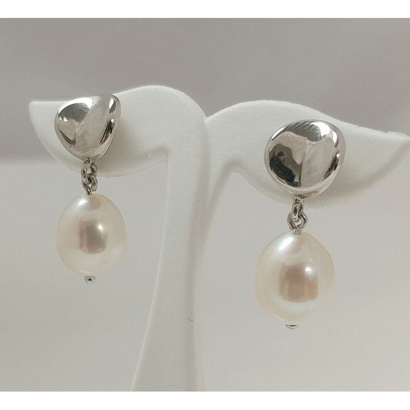 Showcase Collection Sterling Silver Pearl Drop Earrings