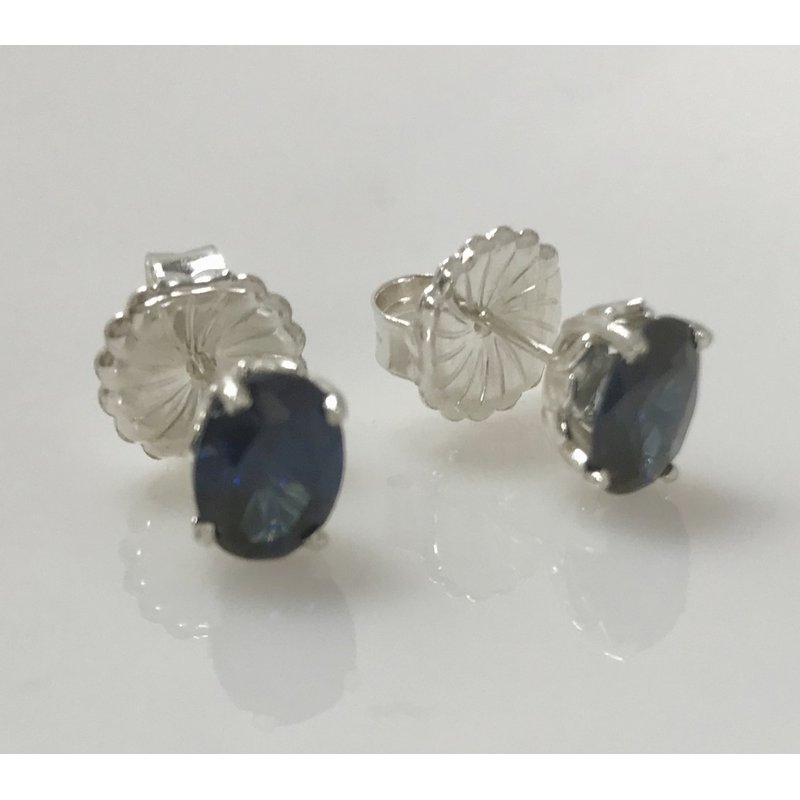 Estate Specials Simulated Sapphire Earrings