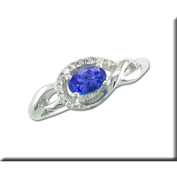 14K WG Freeform Tanzanite & Diamond Ring GJRPF095J23WI