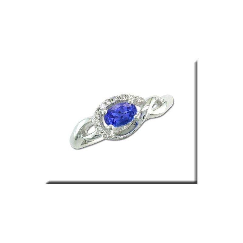 Grandis Signature 14K WG Freeform Tanzanite & Diamond Ring GJRPF095J23WI