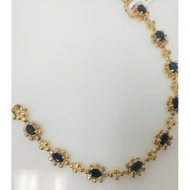 Estate Specials Vermeil Bracelet with Sapphires