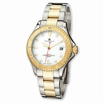 IP plated two tone white dial watch