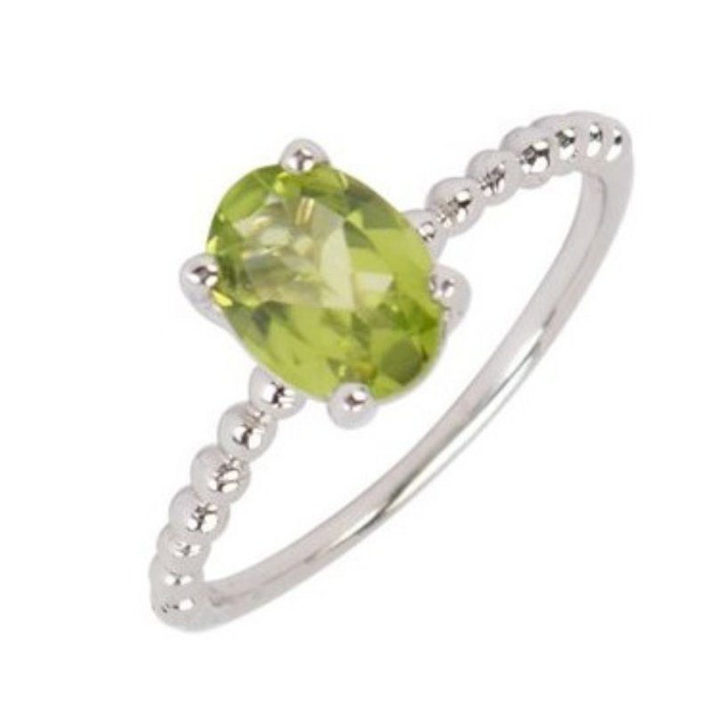 Showcase Collection Oval Peridot Ring