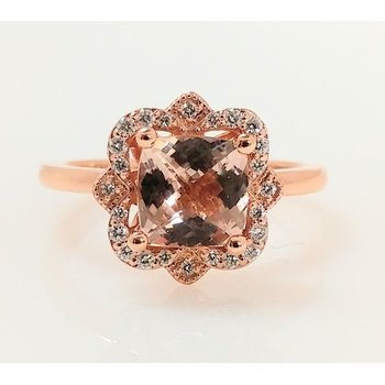 Morganite Ring with Diamond Accents