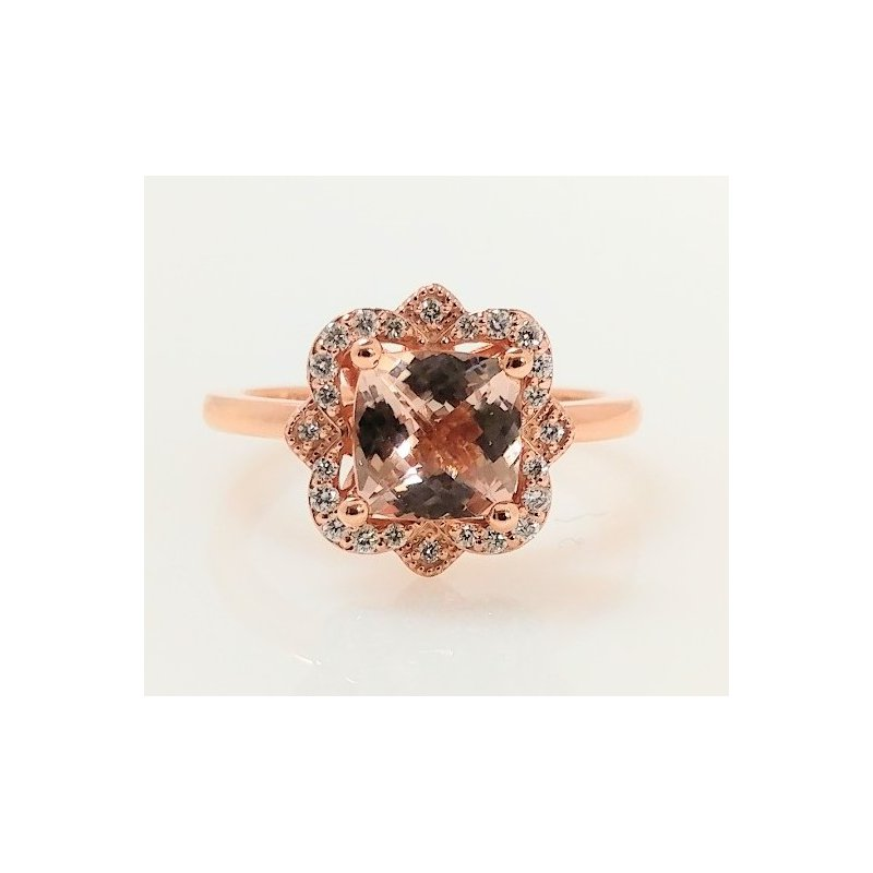 Showcase Collection Morganite Ring with Diamond Accents