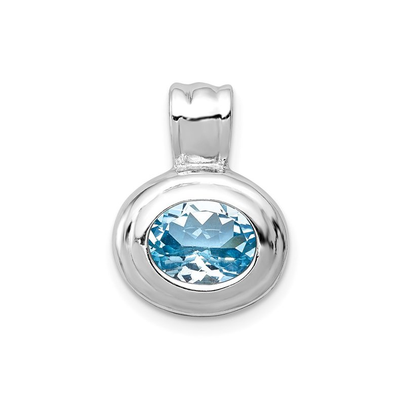 Showcase Collection Sterling Silver Blue Topaz Pendant