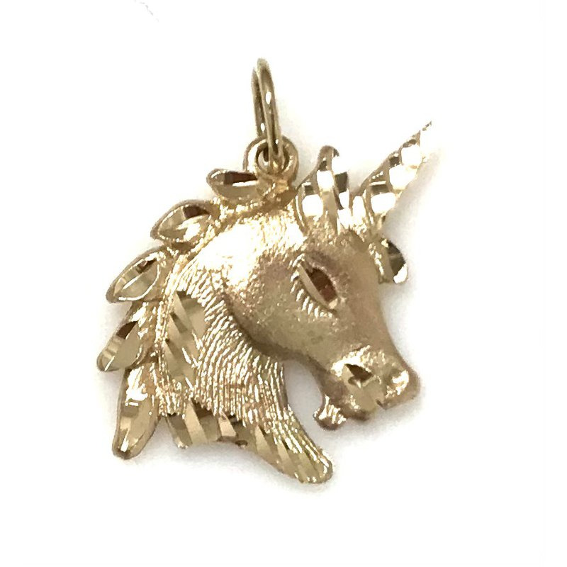 Estate Specials 10KY Unicorn Head Charm