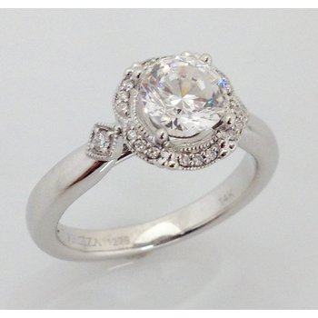 14KW Semi Set Engagement Ring