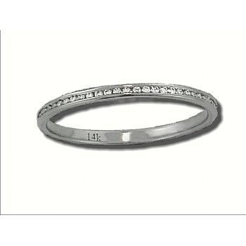 14K W 0.15ctw Diamond Eternity Band GJR799