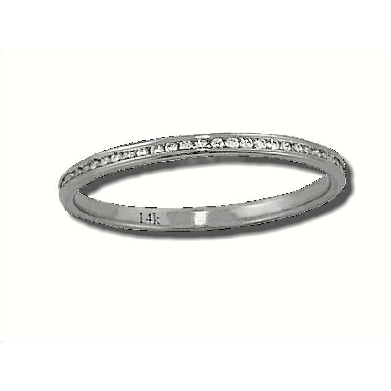 Grandis Signature 14K W 0.15ctw Diamond Eternity Band GJR799