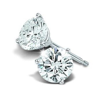 14KW Diamond Stud Earrings