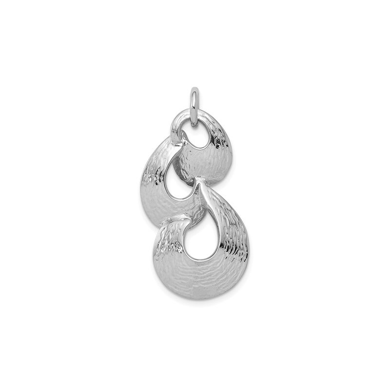 Showcase Collection Sterling Silver Freeform Pendant