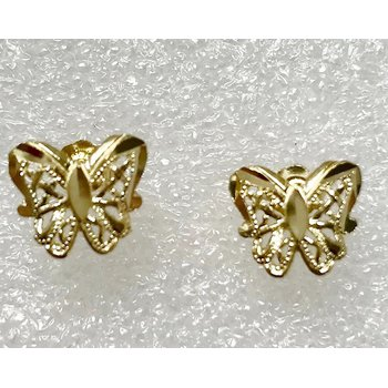 14k Butterfly Earrings