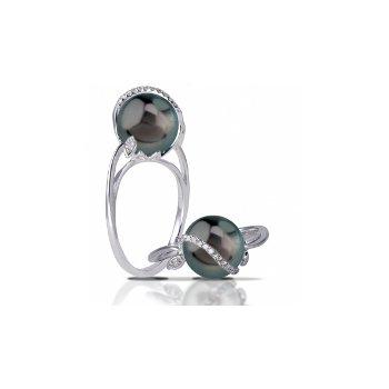 14KW Tahitian Pearl Ring