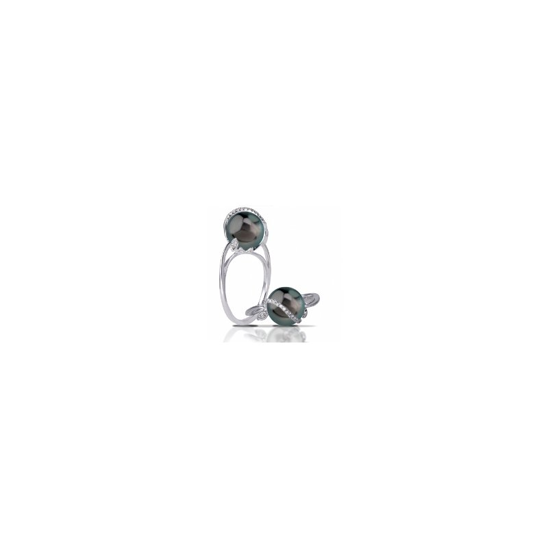 Showcase Collection 14KW Tahitian Pearl Ring