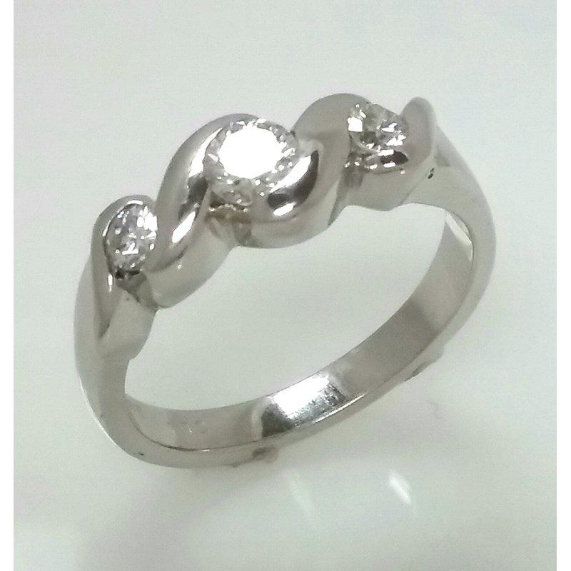 Showcase Collection 18KW Three Stone Diamond Ring