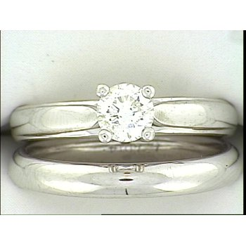 14KW Solitaire Wedding Set