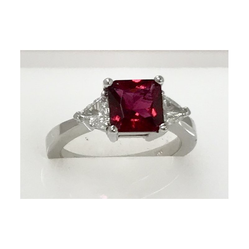 Showcase Collection Rubellite and Diamond Ring