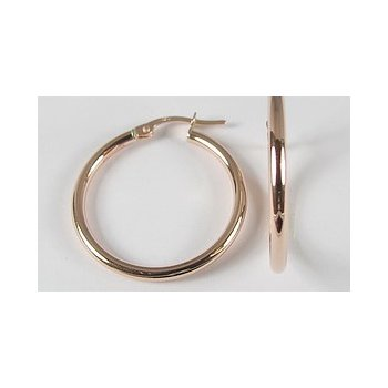 10KR Polished Hoop Earrings