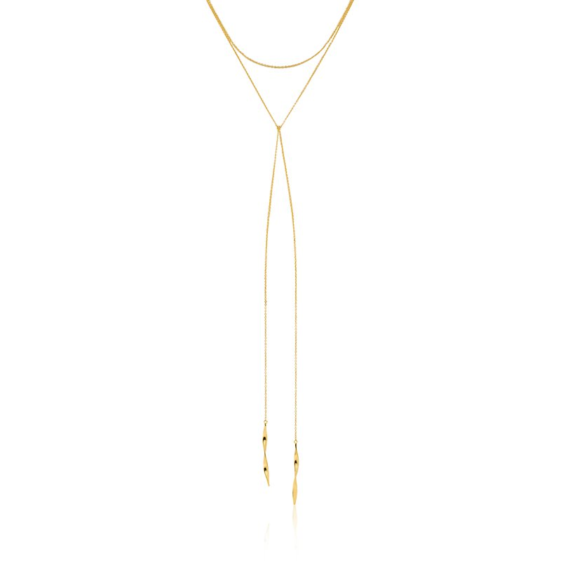 ANIA HAIE Gold Helix Lariat Necklace