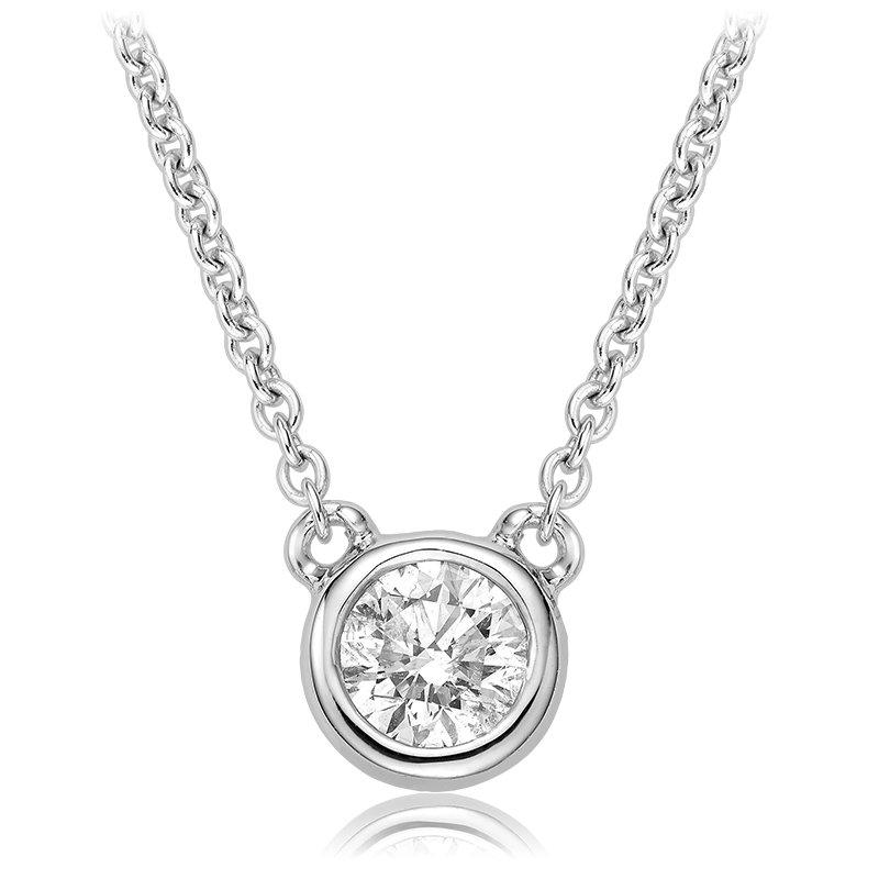 Showcase Collection Bezel Set Diamond Pendant