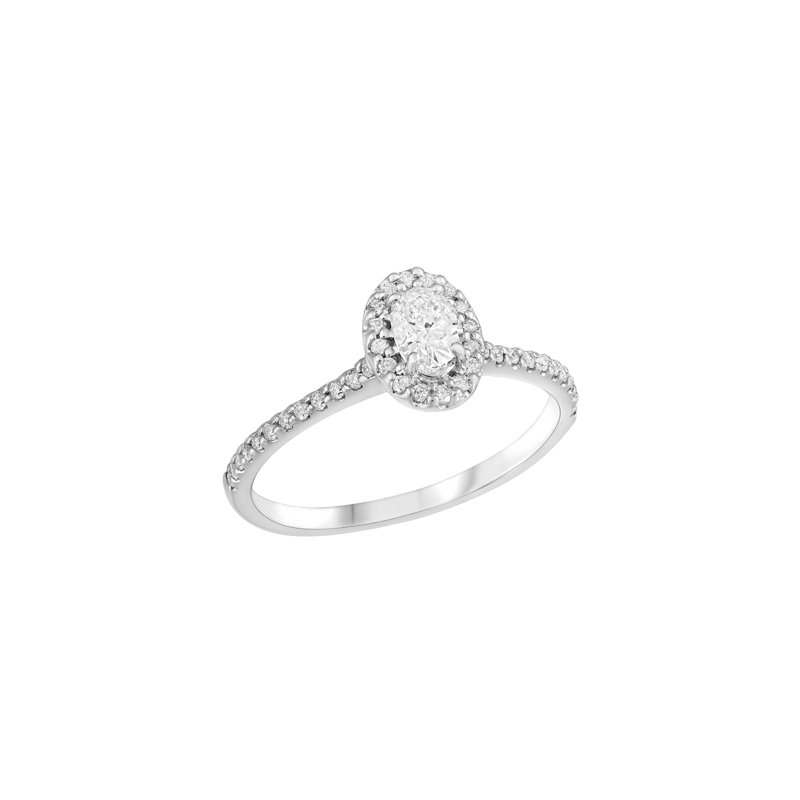 Showcase Collection 14KW Oval Halo Engagement Ring