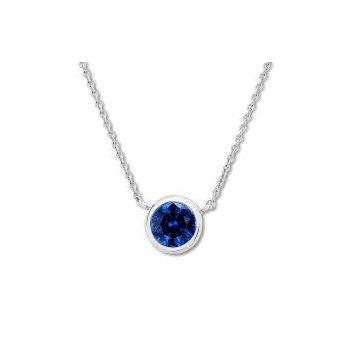 Bezel Set Sapphire Pendant