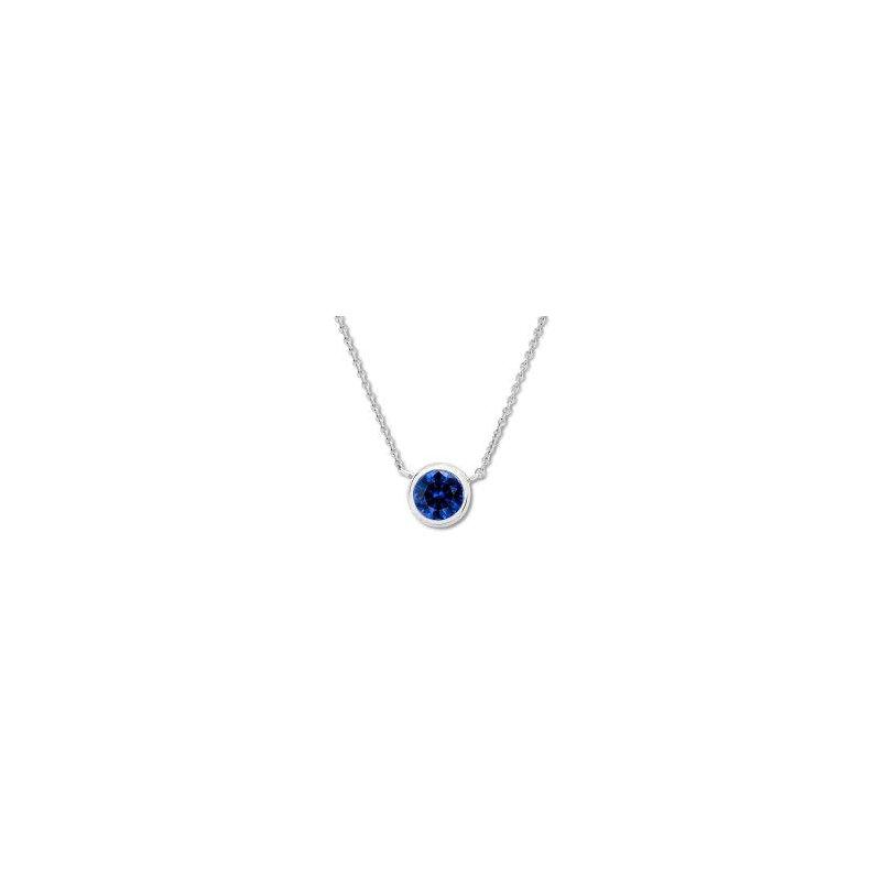 Showcase Collection Bezel Set Sapphire Pendant