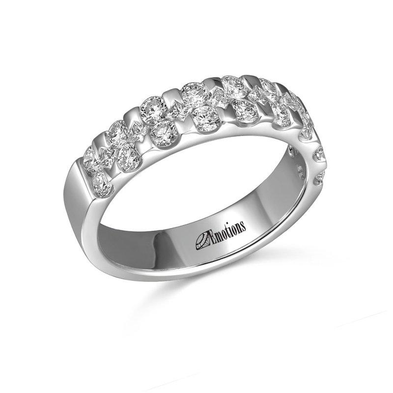 Showcase Collection 14KW Three Row Diamond Ring
